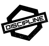 Discipline rubber stamp Stock Photography