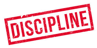 Discipline rubber stamp Royalty Free Stock Photography