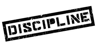 Discipline rubber stamp. On white. Print, impress overprint stock photo