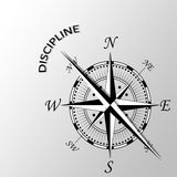 Discipline word written aside compass Royalty Free Stock Images