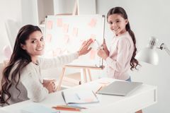 Free Disciplined Mother And Respectful Daughter Distributing Family Duties Royalty Free Stock Image - 139458036
