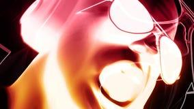 discjockey med hörluraranimering stock illustrationer