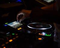 discjockeyskivtallrikarbetsstation Arkivfoto