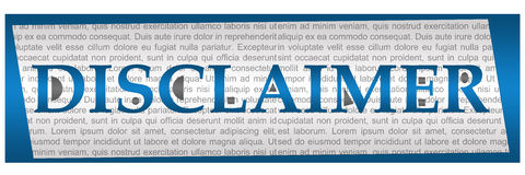 Disclaimer Blue Grey Textual Block Royalty Free Stock Photo