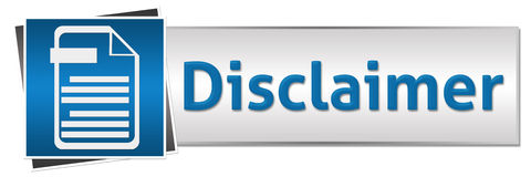 Disclaimer Button Style Blue Stock Image