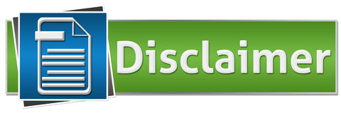 Disclaimer Green Blue Button Style Stock Photography