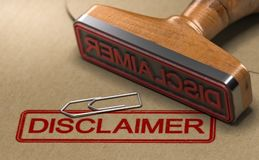 Disclaimer Notice Stock Photos