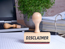 Disclaimer royalty free stock image