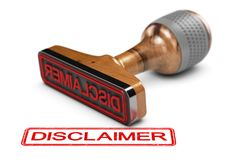 Disclaimer Word Over White Background Royalty Free Stock Photography