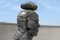 Disclosing Decay sculptor from Angus Taylor. Stock Image