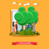 Disclosure concept vector illustration in flat style Stock Photos
