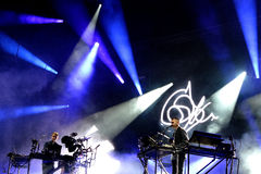Disclosure (electronic music duo) performance at Heineken Primavera Sound 2014 Festival. BARCELONA - MAY 29: Disclosure (electronic music duo) performance at Stock Photography