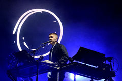 Disclosure (electronic music duo) performance at Heineken Primavera Sound 2014 Festival (PS14). BARCELONA - MAY 29: Disclosure (electronic music duo) performance Royalty Free Stock Images