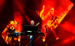 Disclosure (English electronic music duo) performance at Heineken Primavera Sound 2014 Festival. BARCELONA - MAY 29: Disclosure (English electronic music duo) Royalty Free Stock Photography