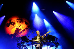 Disclosure (English electronic music duo) performance at Heineken Primavera Sound 2014 Festival. BARCELONA - MAY 29: Disclosure (English electronic music duo) Royalty Free Stock Photo