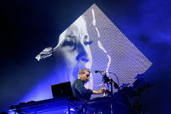 Disclosure (English electronic music duo) performance at Heineken Primavera Sound 2014 Festival. BARCELONA - MAY 29: Disclosure (English electronic music duo) Royalty Free Stock Images