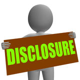 Disclosure Sign Character Shows Legal Royalty Free Stock Photo