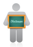 Disclosure sign illustration design Royalty Free Stock Photography