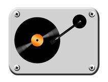 Disco. Long play disco over grey board. Musical illustration Stock Images