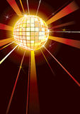 Disco. Music Background with sparkly disco Ball vector illustration
