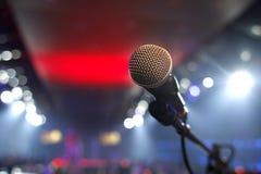 Μικρόφωνο σε ένα disco Στοκ Φωτογραφία