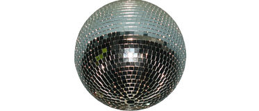 Disco. Ball on the white background Royalty Free Stock Photography