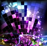 Disco. Vector background with disco ball Stock Illustration