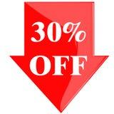 Disco 30 por cento Imagem de Stock Royalty Free
