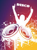 DISCO. Grunge Party DISCO Vector Illustration Stock Photo