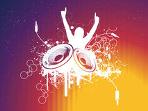 DISCO. Grunge Party DISCO Vector Illustration Royalty Free Stock Images