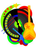 Disco. Abstract background - a disco with a guitar in a vector Stock Image