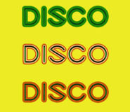 Disco 70s Logo Royalty Free Stock Image