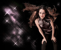 όμορφο κορίτσι disco Στοκ εικόνα με δικαίωμα ελεύθερης χρήσης