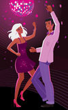 Disco. Illustration of boy and girl dancing disco Stock Image