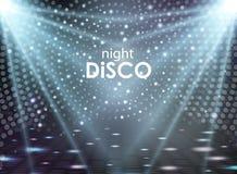 Disco abstract background. Disco ball texture. Spot light rays Royalty Free Stock Photo