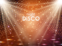 Disco abstract background. Disco ball texture. Spot light rays Stock Image