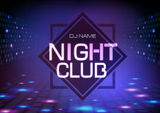 Disco abstract background. Neon sign Night club poster. Disco abstract background. Neon sign Night club stock illustration