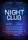 Disco abstract background. Neon sign Night club poster. Disco abstract background. Neon sign Night club Vector Illustration