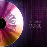 Disco abstract background. Record Royalty Free Stock Image