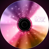 Disco abstract background. Record or disk Royalty Free Stock Images