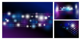 Disco abstract background with spot light design. Vector illustration Royalty Free Stock Photos