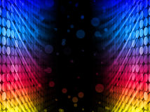Disco Abstract Colorful Waves Background Stock Photo