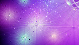 Disco. An abstract pattern, a disco with disco balls. 3d Royalty Free Stock Photo
