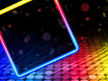 Disco Abstract Square Background Royalty Free Stock Photography