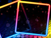 Disco Abstract Square Background Stock Photos