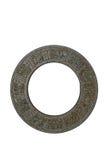 Disco antico del maya con i hieroglyphics Fotografie Stock