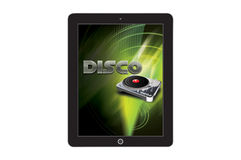 Disco app concept template Stock Photography