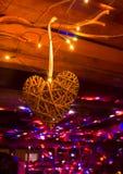 Disco avec le coeur Photo stock