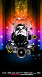 Disco Backgorund for Music Event flyers royalty free illustration