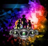 Disco Backgorund pour des aviateurs d'événement de musique Images libres de droits